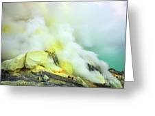 Ijen Crater Greeting Card