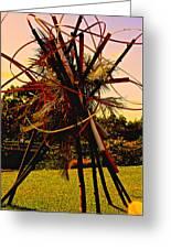 Ikebana Sunset Greeting Card