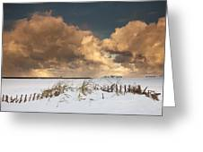 Illuminated Clouds Glowing Above A Greeting Card
