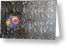 Illusion Of Black Rain Greeting Card