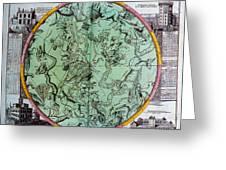 Illustration From Atlas Coelestis Greeting Card