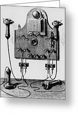 Illustration Of The Bell Telephone Greeting Card