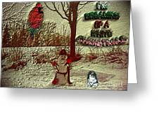 I'm Dreaming Of White Christmas Greeting Card