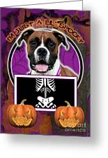 I'm Just A Lil' Spooky Boxer Greeting Card