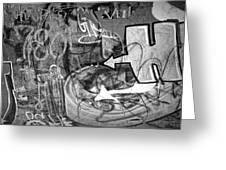 Image Of Graffiti In Edmonton Alberta Greeting Card