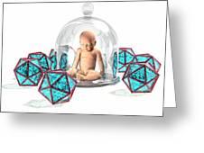 Immunity, Conceptual Artwork Greeting Card