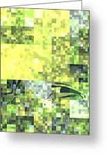 Impatience Geometric Yellow Greeting Card