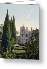Imperial Castle In Alupku -ie Alupka -  Crimea - Russia - Ukraine Greeting Card