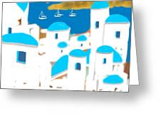 Impressions Of Greece Greeting Card