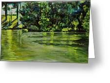 Impressions Of Ooty Lake 1 Greeting Card