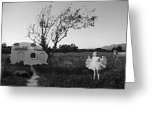 In My Dreams I Am A Little Girl Bw Greeting Card