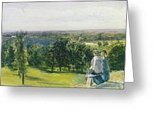In Richmond Park Greeting Card