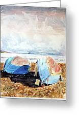 In Secca Sulla Spiaggia Greeting Card