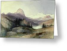 In The Bighorn Mountains Greeting Card by Thomas Moran