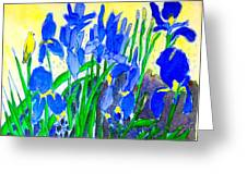 In The Iris Bed Greeting Card