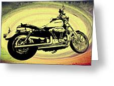 In The Vortex - Harley Davidson Greeting Card