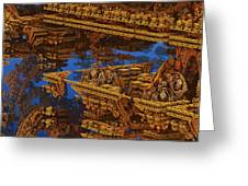 Inca Gold In The Galaxy Pawnshop. Greeting Card