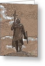 Inca Warrior Greeting Card