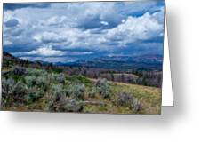 Incoming Storm In Wyoming Greeting Card