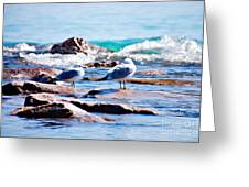 Incoming Wave  Greeting Card