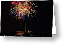Independence Day In Dc 2 Greeting Card by David Hahn