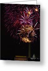 Independence Day In Dc 4 Greeting Card by David Hahn