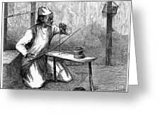 India: Pearl Borer, 1876 Greeting Card