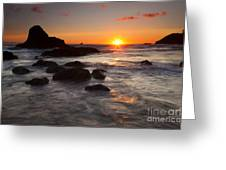 Indian Beach Sundown Greeting Card