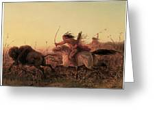 Indian Buffalo Hunt Greeting Card