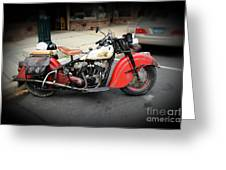 Indian Chief Motorcycle Rare Greeting Card