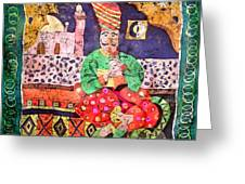 Indian Dream Greeting Card by Sandra Kern