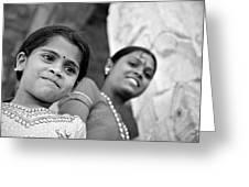 Indian Girls Greeting Card