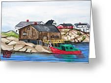 Indian Harbour Peggys Cove  Nova Scotia Greeting Card