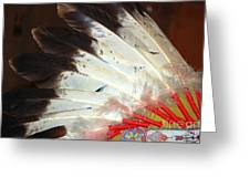 Native American War Bonnet Greeting Card