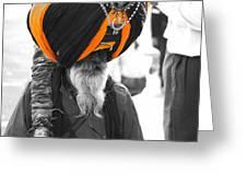 Indian Man Wearing Turban Greeting Card
