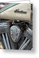 Indian Motorcycle Engine Greeting Card