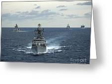 Indian Navy Corvette Ship Ins Kulish Greeting Card