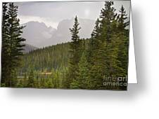 Indian Peaks Colorado Rocky Mountain Rainy View Greeting Card