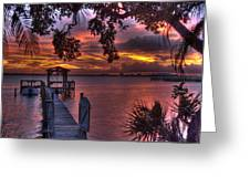 Indian River Sunset Greeting Card