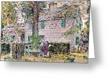 Indian Summer In Colonial Days Greeting Card by Childe Hassam