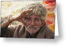 Indian Tribal Man Greeting Card