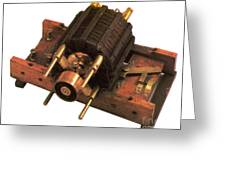 Induction Motor Greeting Card