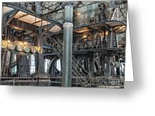 Industrial 8 Greeting Card