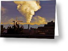 Industrial Beauty Greeting Card