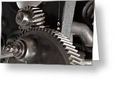 Industrial Gears Whith Oil Drops Greeting Card