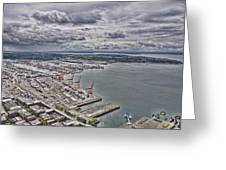 Industrial Harbor Greeting Card