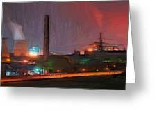 Industrial Lights Greeting Card