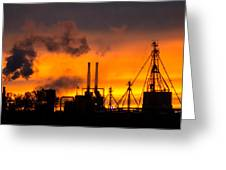 Industrial Strength Sunset Greeting Card
