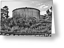 Industrial Tank In Black And White Greeting Card