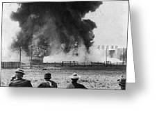 Industry: Oil Fire, C1902 Greeting Card